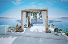 Wedding kiosk – Oia Santorini